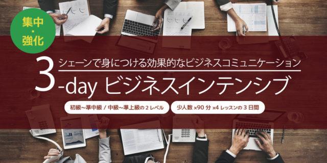シェーン英会話 3dayビジネスインテンシブ